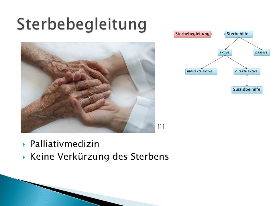 Sterbebegleitung [1] Palliativmedizin Keine Verkürzung des Sterbens